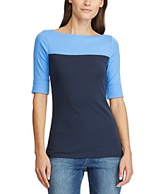 Colorblocked Cotton Top