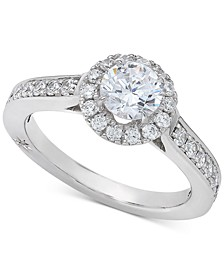 Diamond Halo Engagement Ring (1-1/4 ct. t.w.) in 18k White Gold