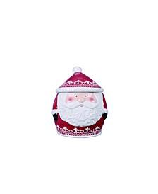 Dolomite Red Christmas Nordic Santa Cookie Jar
