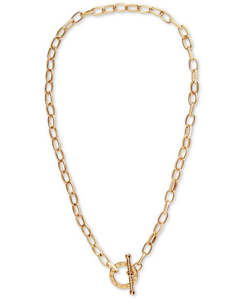 "Olivia Burton Crystal Link 16-1/4"" Toggle Necklace"