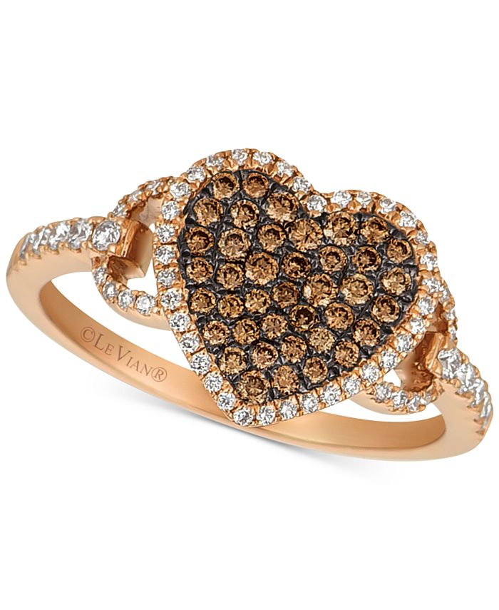 Le Vian - Diamond Heart Statement Ring (1/2 ct. t.w.) in 14k Rose Gold