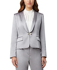 Faux-Pearl-Trim Jacket