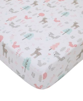 Sweet Forest Friends Fitted Crib Sheet