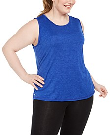 Plus Size Keyhole-Back Tank Top, Created for Macy's