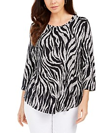 Animal-Print Top, Created for Macy's