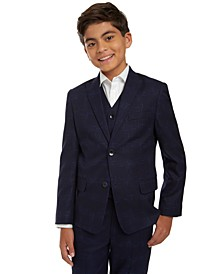 Big Boys Windowpane Suit Jacket