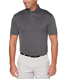 Men's Jacquard-Stripe Golf Polo