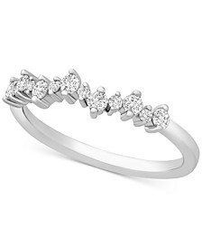 Diamond Scatter Band (1/4 ct. t.w.) in Sterling Silver