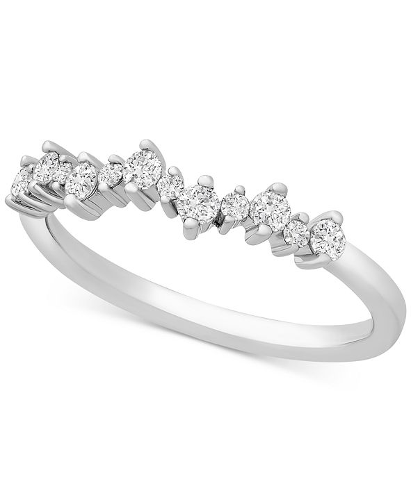 Macy's Diamond Scatter Band (1/4 ct. t.w.) in Sterling Silver