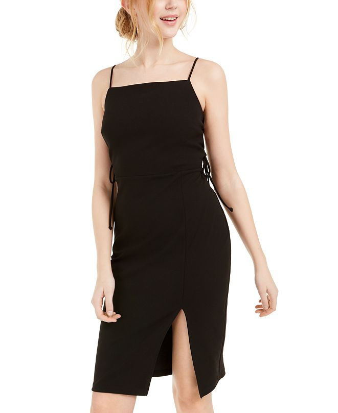 bebe Lace-Up Bodycon Dress