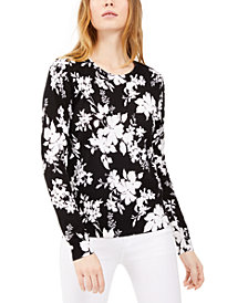 Michael Michael Kors Printed Long-Sleeve Top