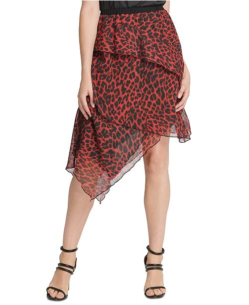 DKNY Layered Asymmetrical Skirt