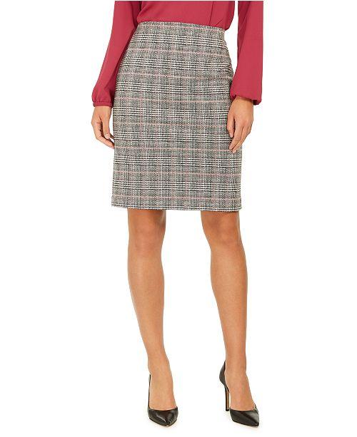 Nine West Plaid Pencil Skirt