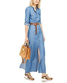 Tencel Maxi Shirtdress
