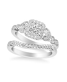 Diamond Princess Bridal Set (3/4 ct. t.w.) in 14k Yellow, White or Rose Gold