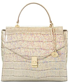 Ingrid Ivory Calypso Leather Satchel
