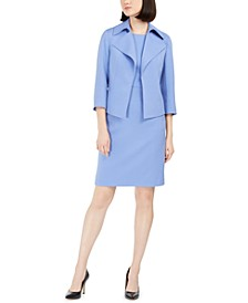 Twill Sheath Dress & Ridge Crest Wide Collar Jacket