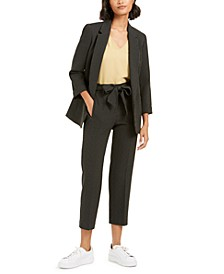 Striped Open-Front Jacket, Bell-Sleeve Top & Striped Tie-Waist Pants, Created for Macy's