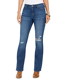 Destructed Curvy Boot-Cut Jeans, Created For Macy's