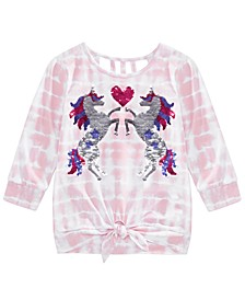Big Girls Tie-Dye Unicorn Top