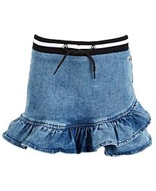 Big Girls Ruffled Denim Skirt