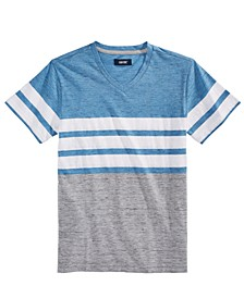 Big Boys Bentley Colorblocked Stripe V-Neck T-Shirt