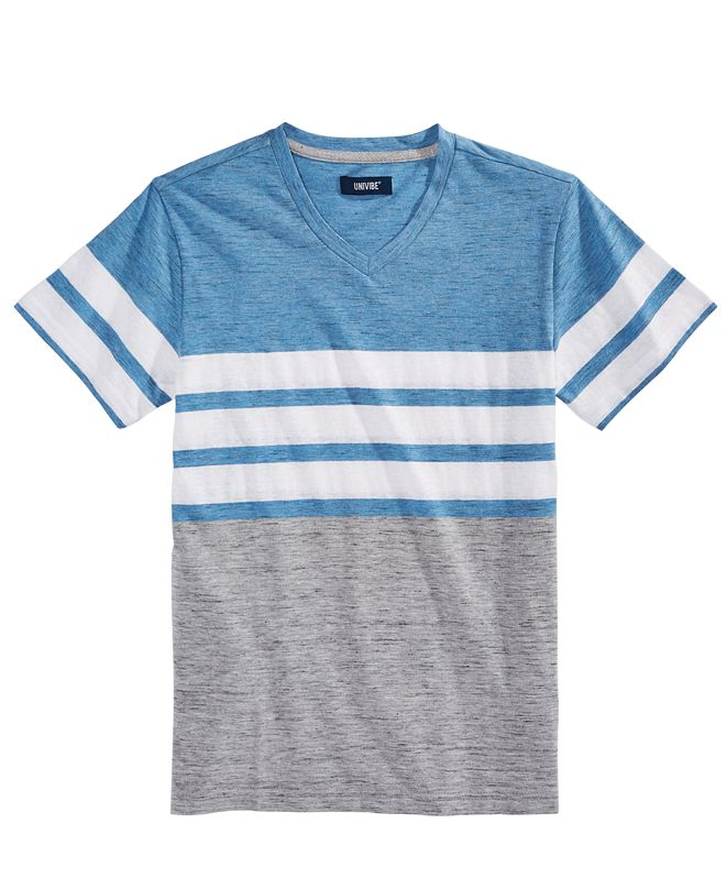 Univibe Big Boys Bentley Colorblocked Stripe V-Neck T-Shirt