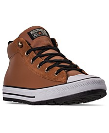 Men's Chuck Taylor All Star Street Mid Boots from Finish Line