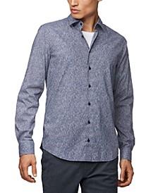 BOSS Men's Micro-Patterned Slim-Fit Shirt