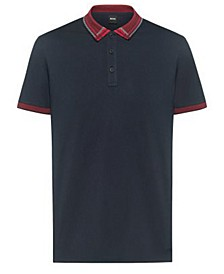 BOSS Men's Pcheck Cotton-Jersey Polo Shirt