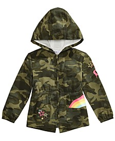 Toddler Girls Cotton Hooded Camo Jacket, Created For Macy's