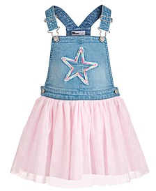 Little Girls Denim Star Skirtalls, Created for Macy's