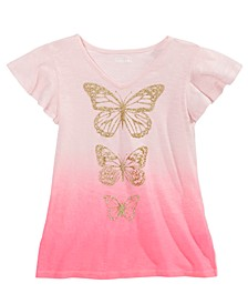 Big Girls Ombré Butterfly T-Shirt, Created For Macy's