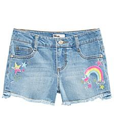 Big Girls Rainbow & Stars Denim Shorts, Created For Macy's