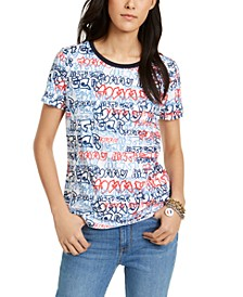 Cotton Graffiti-Print T-Shirt
