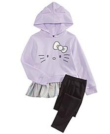 Toddler Girls 2-Pc. Peplum Hoodie & Leggings Set