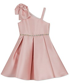 Little Girls Asymmetrical Bow Dress