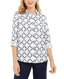 Printed Linen-Blend Shirt, Created for Macy's