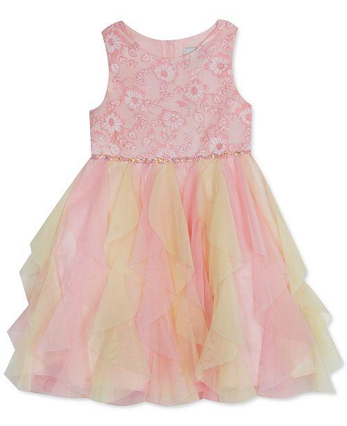 Rare Editions Toddler Girls Burnout Cascade Dress