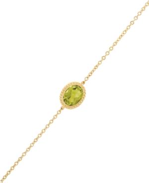 Gemstone Twist Gallery Bracelet in 14k Yellow Gold (Available in Opal
