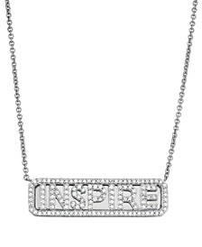 Diamond (1/4 ct. t.w.) 'Inspire' ID Necklace in Sterling Silver