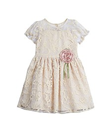 Little Girls London Lace Party Dress