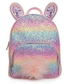 Rainbow Glitter Bunny Mini Backpack