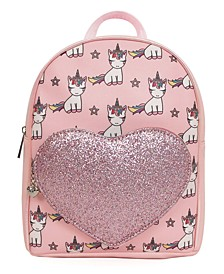 Lil' Miss Gwen Mini Backpack with Glitter Heart Pocket