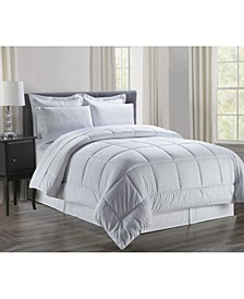 Wrinkle Resistant - Silky Soft Vine Bed-in-a-Bag 8-Piece Comforter Set