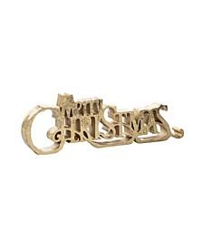 Resin Merry Christmas Décor