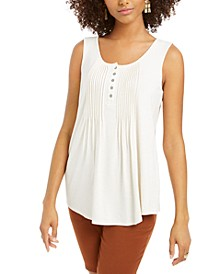 Button-Front Tank Top, Created for Macy's