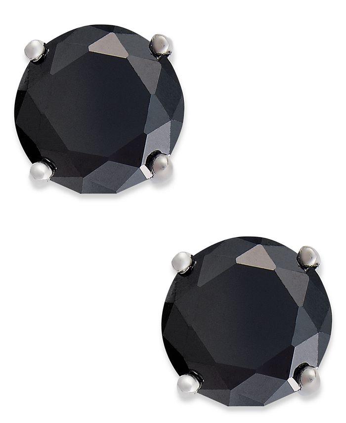 Giani Bernini - Sterling Silver Earrings, Black Cubic Zirconia Stud Earrings (1 ct. t.w.)