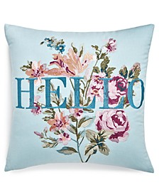 "Hello 18"" x 18"" Decorative Pillow"