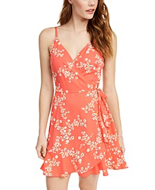 Juniors' Surplice Fit & Flare Dress, Created for Macy's